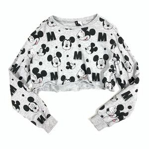 Divided H&M Disney Mickey Mouse Crop Top Size S